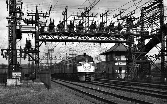 New Haven Railroad train 13, The Forty-Second Street, at Cos Cob, Conn., with…