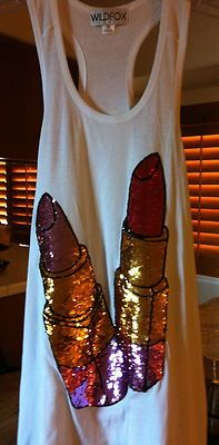 Wildfox Couture Sequin Lipstick Tank! :) <3 WELL OMG SO cute!