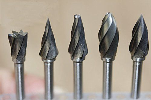 New 10 Pieces Tungsten Carbide Rotary Burr SET 1//8/'/' Shank Fit Dremel Tools for
