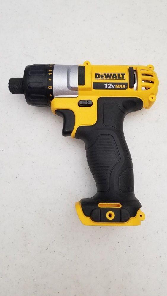 33 95 Used Dewalt Dcf610 Cordless 12v Screwdriver Bare Tool Dewalt Dewalt Cordless Screwdriver