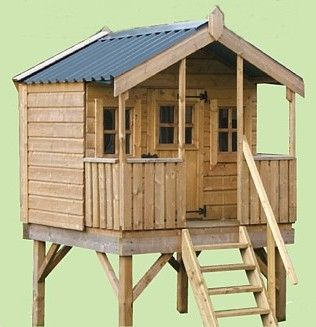 Tree houses  Tree forts and Treehouse on PinterestTree Fort Plans   Tree House   Freestanding Timber Treehouse   Co  Louth