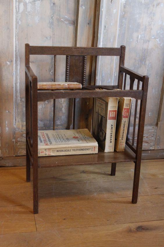 Prachtige krantenbak lectuurbak uit de art deco of for Jaren 30 interieur