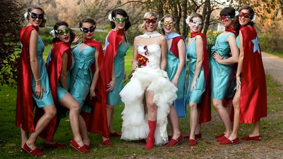 Vintage Superhero Wedding