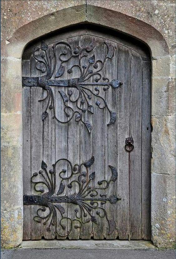 Beautiful rustic door absolutely love the hardware design for Beautiful door handles