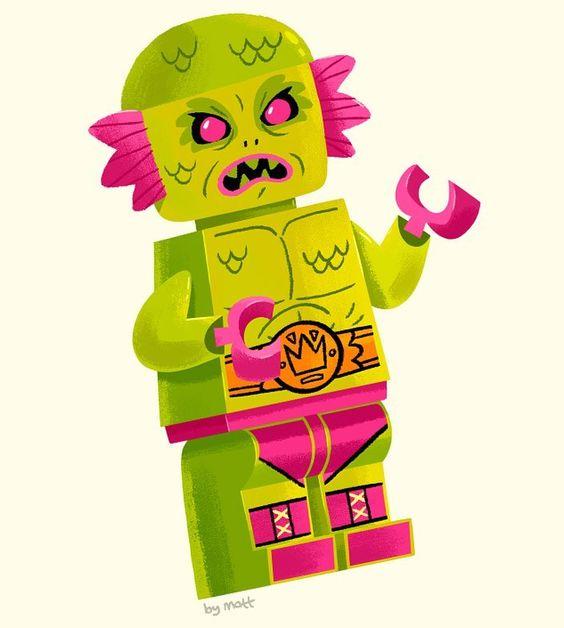 Nom nom! Lego Amazon the 2nd best player in Pro Wrestling #nintendo #NES #WrestleMania #wrestling #LEGO #minifigure by mattkaufenberg http://ift.tt/1WixuqQ