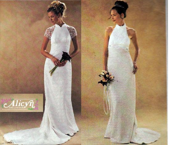 Designer wedding dress pattern mccall 39 s 3933 lined halter for Mccall wedding dress patterns