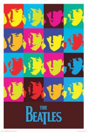 """MUS57008 """"Beatles - Pop Art"""" (24 X 36)"""