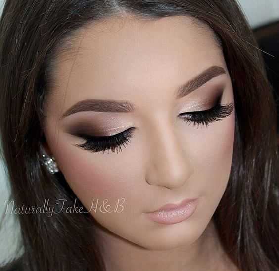 Flawless glam makeup