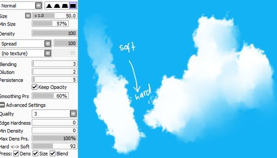 Paint Tool Sai Clouds Brush Painting Tools
