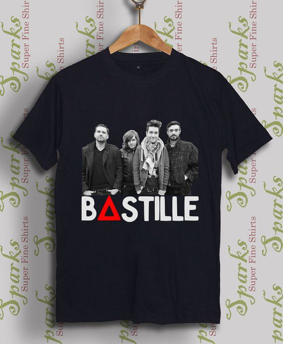 bastille shirt bastille tshirt  black shirt white by SparksShirt