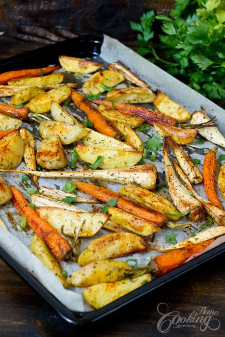 Simple sometimes may be the best - Roasted Potatoes, Parsnips and Carrots- one of my favorite side dishes