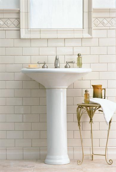 6 tips for tile on a budget classic cream and white subway tiles - Nice subway tile bathroom designs with tips ...