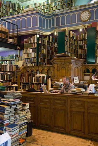 Leakey's Secondhand Bookshop, Inverness, Scottish Highlands  ~~~Books...  Meeting Scotland...  *drools*~~~