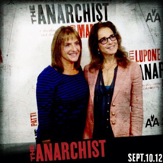 Patti LuPone and Debra Winger were all smiles at The Anarchist Broadway's press day this morning!