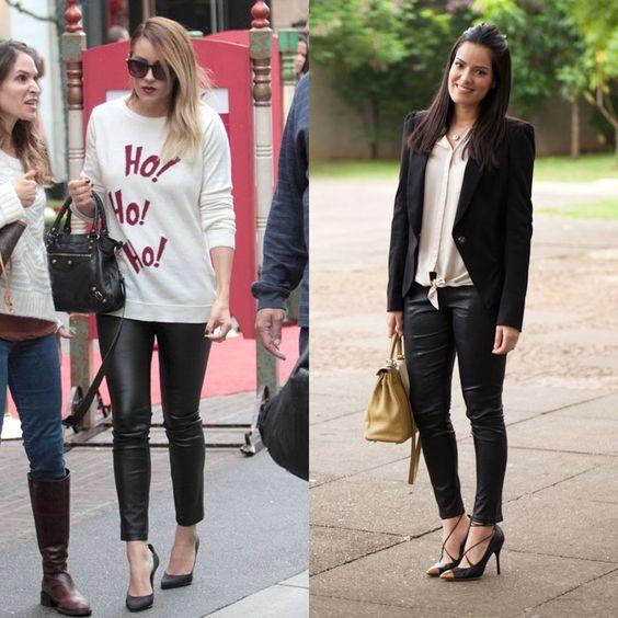 Leggings lisa diferentes formas da mulher usar leggings pretos