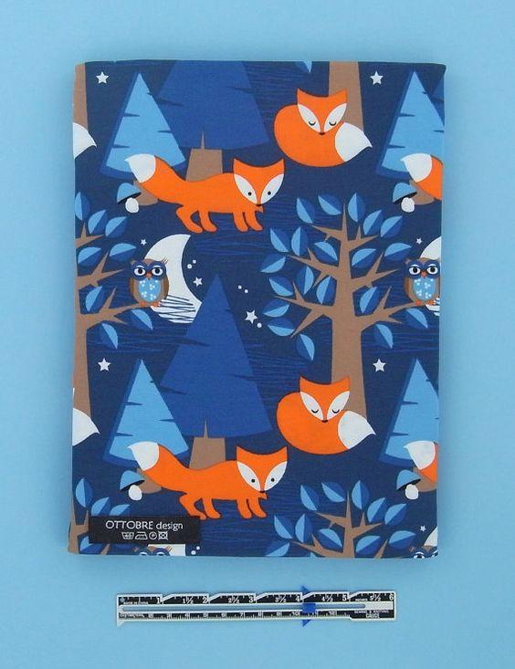 Night Fox organic cotton elastane single jersey 1 by Ottobredesign, €24.00