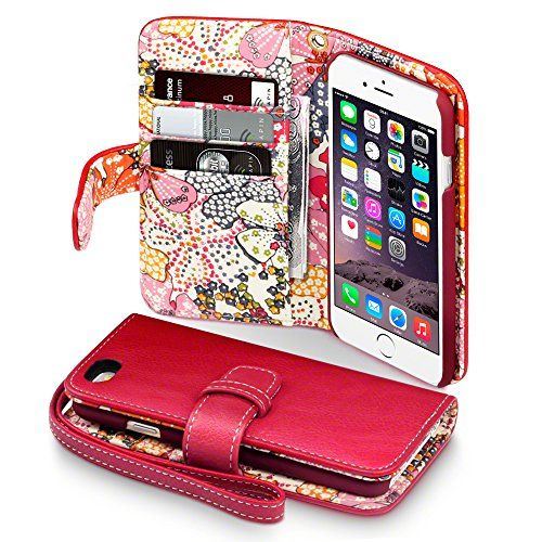 Terrapin - Apple iPhone 6 (4.7 Inch) Textured PU Leather Flip Wallet Case / Cover / Pouch / Holster with Card Slots, Cash Compartment and Detachable Wrist Strap - Red with Lily Floral Textile Interior null http://www.amazon.co.uk/dp/B00MBMG84C/ref=cm_sw_r_pi_dp_Vrulub0ZSG8Q7