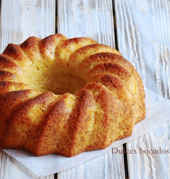 Dulces bocados: Bundt cake de melocoton y vainilla
