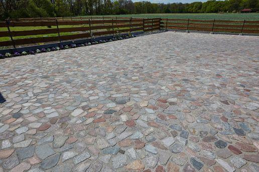 Kamien Polny Ciety Plomieniowany Lupany Granit Bruk Kocielby Brukowiec Sidewalk Structures