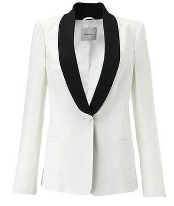women&39s purple tux | White Tuxedo Jacket With Black Lapels For