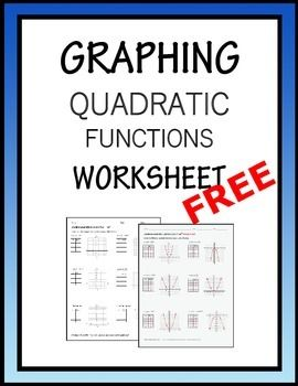 Printables Graphing Quadratic Functions Worksheets pinterest the worlds catalog of ideas free graphing quadratic functions worksheet