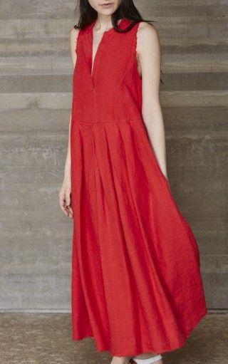 Rachel Comey Sereno Dress - Red Linen - shop til i drop ...
