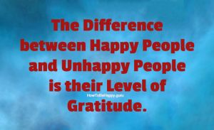 The difference between happy people