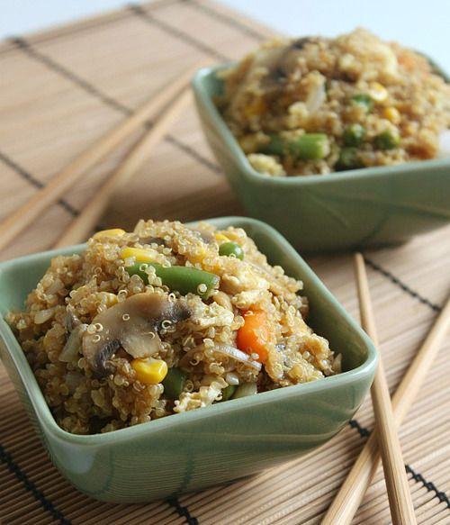 "Healthy quinoa egg ""fried rice"" recipe"