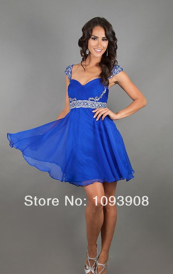 short rayol blue bridesmaid dresses  short royal blue prom ...
