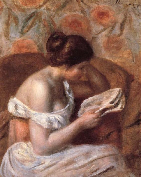 Renoir, woman reading: