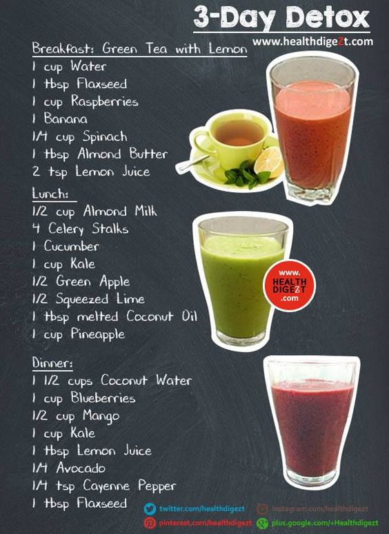 3 day detox, Detox and Apple cider vinegar diet on Pinterest
