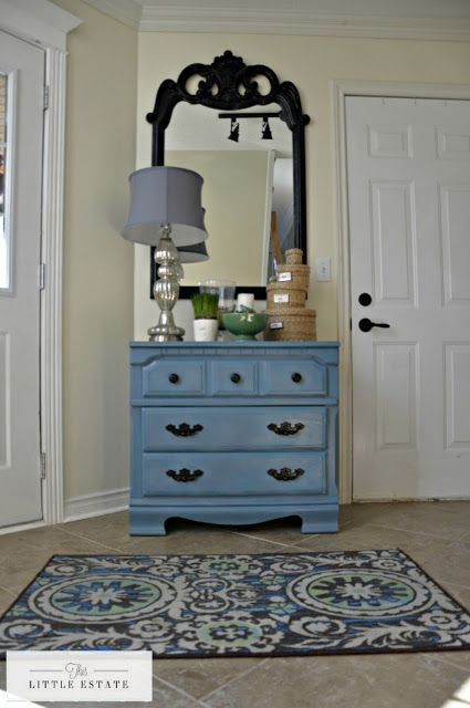 This Little Estate: The Little Blue Entryway Dresser