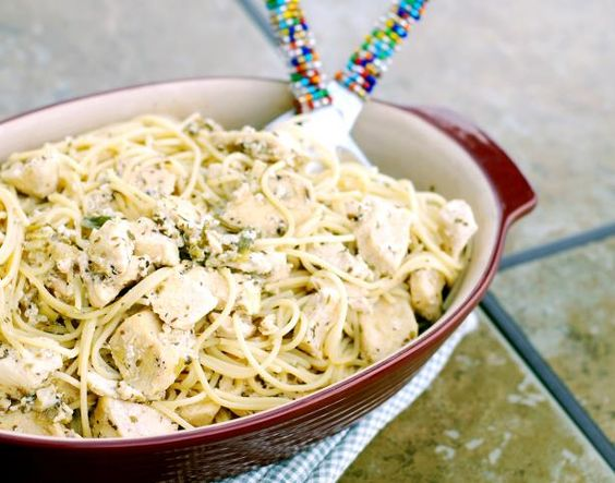 "Lemon Chicken Spaghetti Toss : ""This has become a staple in our household. It is so easy to make, yet looks very impressive."" -KC_Cooker"