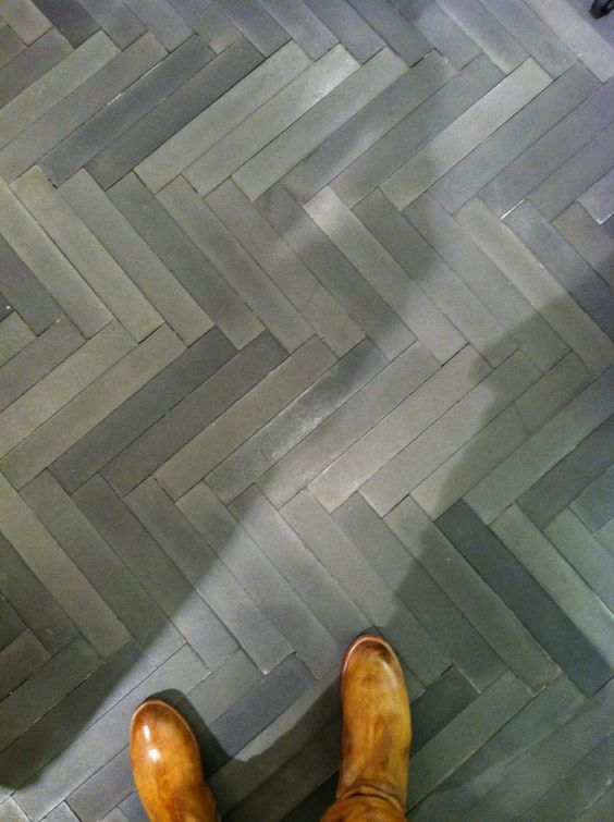 Chevron Grey Tile Handmade Tiles Can Be Colour Coordinated
