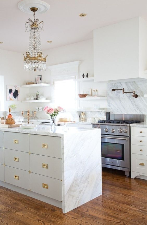 And while you're at it, put some marble contact paper on the top and sides of the counter for a super high-end ~lewk~. | 17 Impossibly Cute Kitchen Decor Ideas That Only Look Expensive