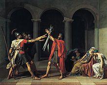 Jacques Louis David - Le Serment des Horaces (1784-1785)