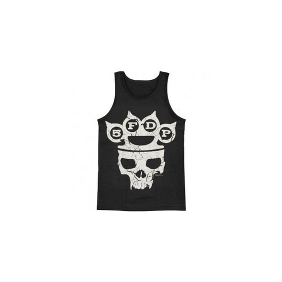 FIVE FINGER DEATH PUNCH Skull Knuckles Mens Tank ($20) ❤ liked on Polyvore featuring men's fashion, men's clothing, men's shirts and men's tank tops
