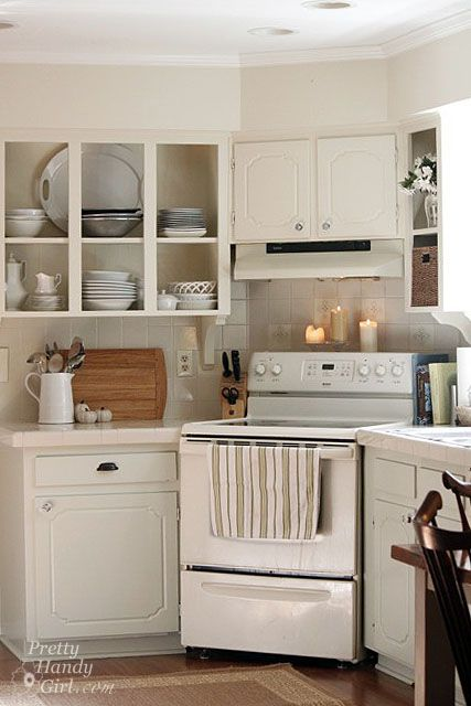 Good idea...use the corner for the stove in a small kitchen