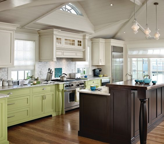 Kitchen Cabinet Color: Multi Color Cabinets