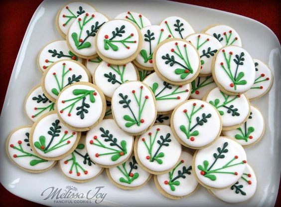 Melissa Joy Fanciful Cookies & More  Mini Holly Sprigs