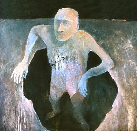 Mel McCuddin, Man in a Hole oil on canvas