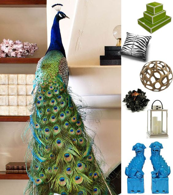 Peacocks living rooms and decorating ideas on pinterest for Home decorations peacock