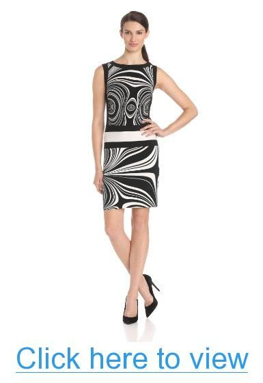Donna Morgan Women's Sleeveless Waist Band Design Dress