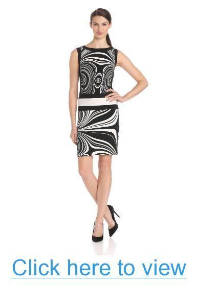 Donna Morgan Women's Sleeveless Waist Band Design Dress