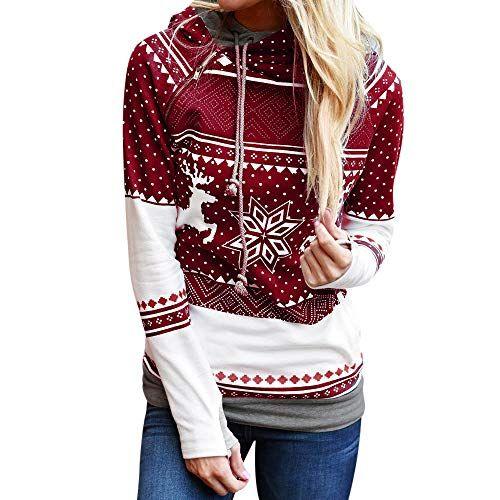 YOcheerful Christmas Women Pullover Long Sleeve Sweatshirt