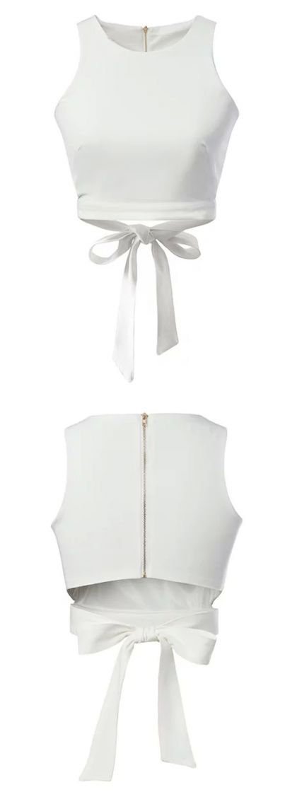 Love, love, love. White crop top.Find it at Choies.com!