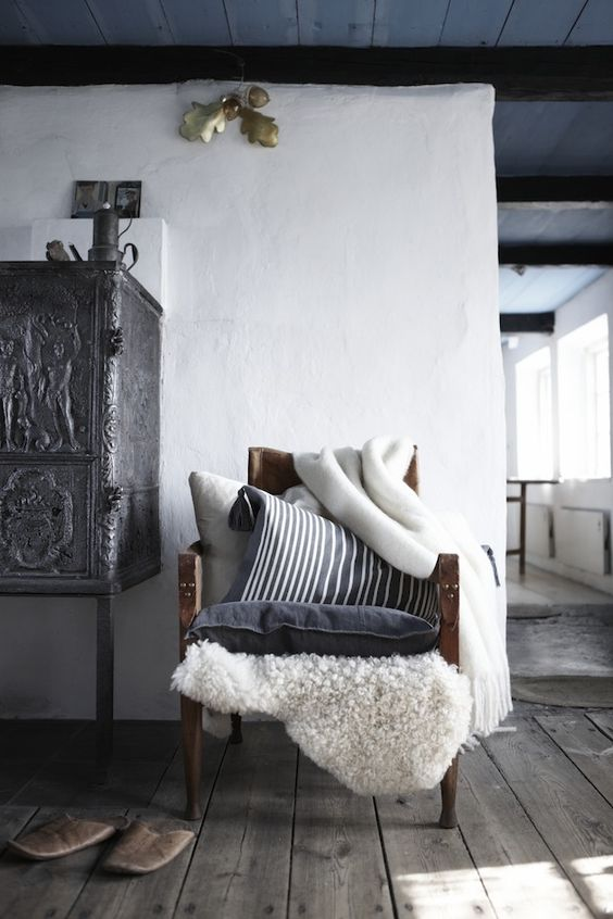 Wabi Sabi Scandinavie - l'un des blogs les plus importants ad Suède conception libre: hiver et une étoile blanche.