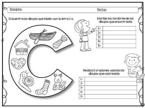 Compartimos Este Fantastico Material De La Maestra Star Leyva En La Que Nuestros Alumnos De Letras Del Abecedario Actividades Con La Letra C Escritura Creativa
