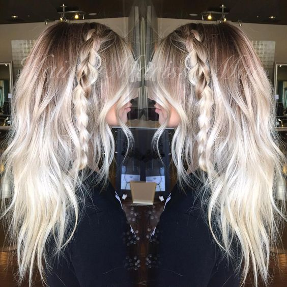 Rooty platinum and textured waves, my favorite The perfect way to be platinum blonde with out the maintenance #hairbymarissamae
