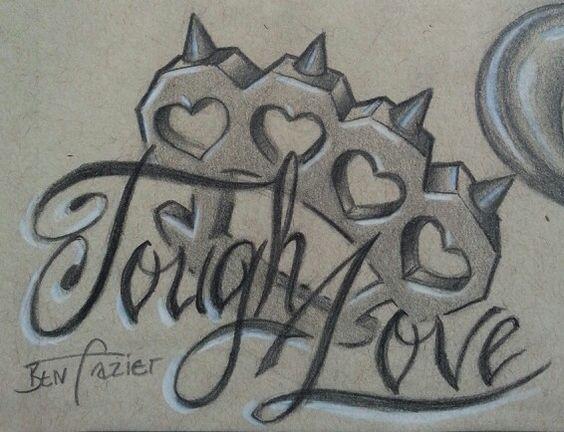 Brass knuckles tattoo flash by Ben Frazier. | Doc's ...